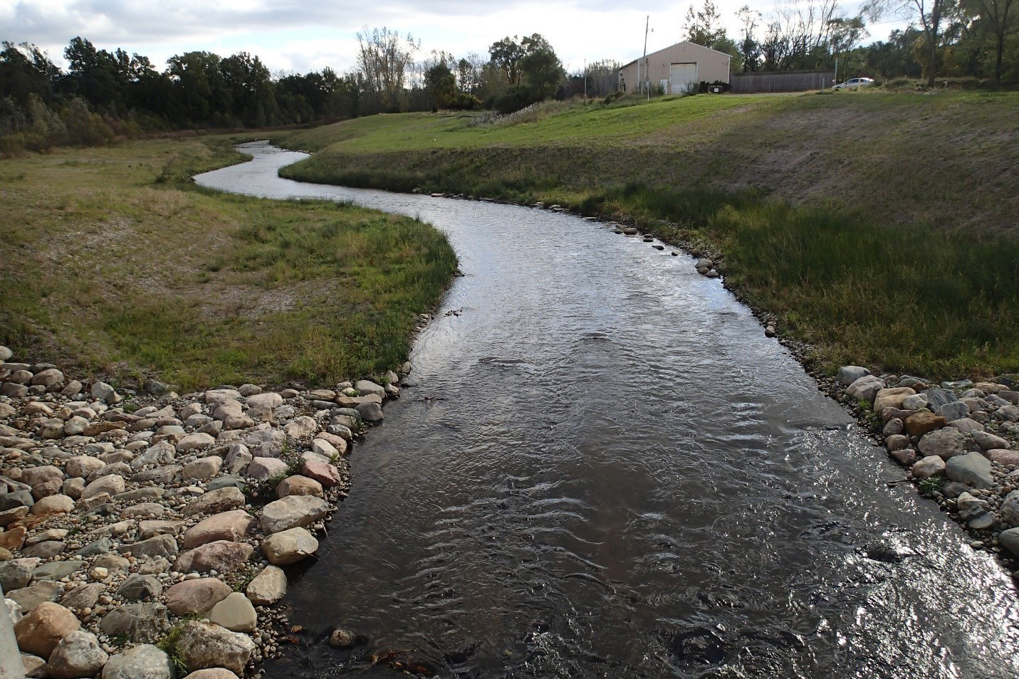 alcott dam-portagecreek-stream after