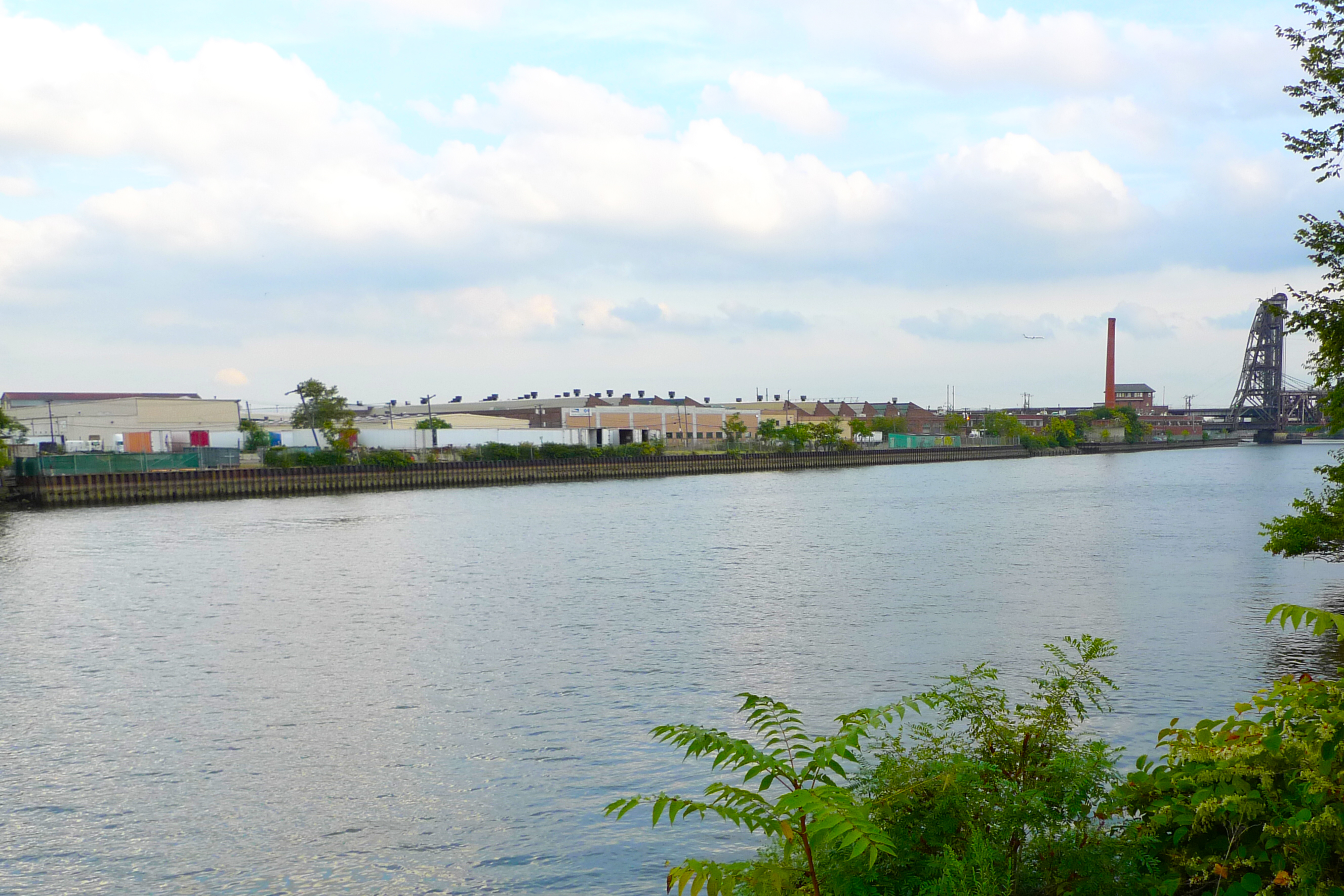Industrial facilities line the Lower Passaic River.