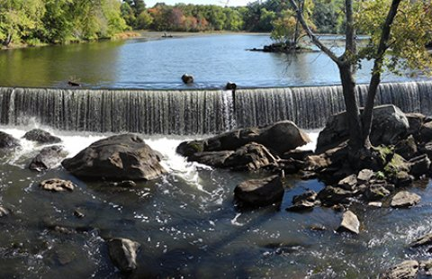 The Talbot Mills Dam in Billerica, Massachusetts, has been in this location since 1711.