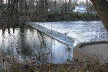 Blackwell Mills Dam shown from upstream facing west. Credit Carl Alderson/NOAA