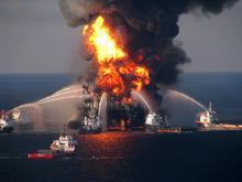 Deepwater Horizon explosion.