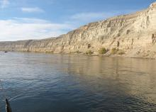 A view of the free-flowing section of Columbia River.