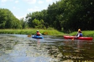 Kayakers in the Kalamazoo River