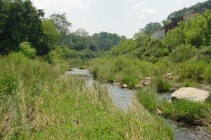 After contamination was removed from the site, stream restoration, shown here, was completed.