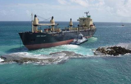 On September 18, 2003, M/V Kent Reliant grounded at the entrance to San Juan Harbor, Puerto Rico.