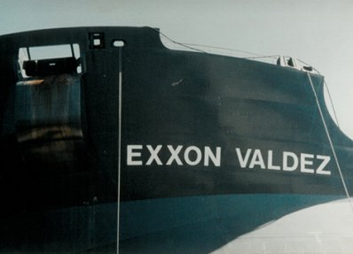 "Image of a ship with name reading ""Exxon Valdez"""